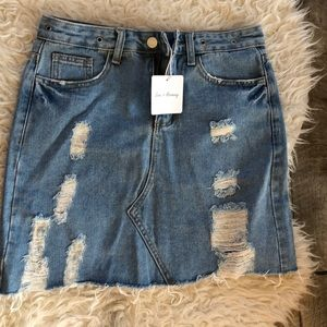 New with tags jeans mini skirt denim size small